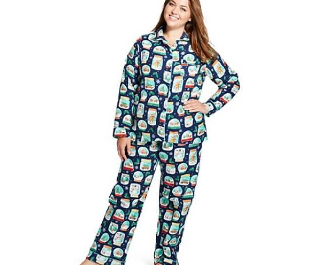 Classic Ugly Christmas Sweater Pajamas Womens Flannel