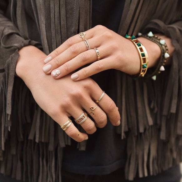 21 Photos Of Stackable Rings That Ll Teach You How To Wear A Bunch At Once Without Going Overboard