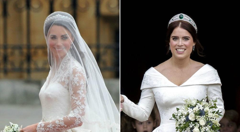 Princess Eugenie's Wedding Dress Vs. Kate Middleton's