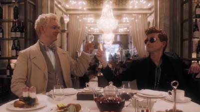 Image result for Crowley and Aziraphale