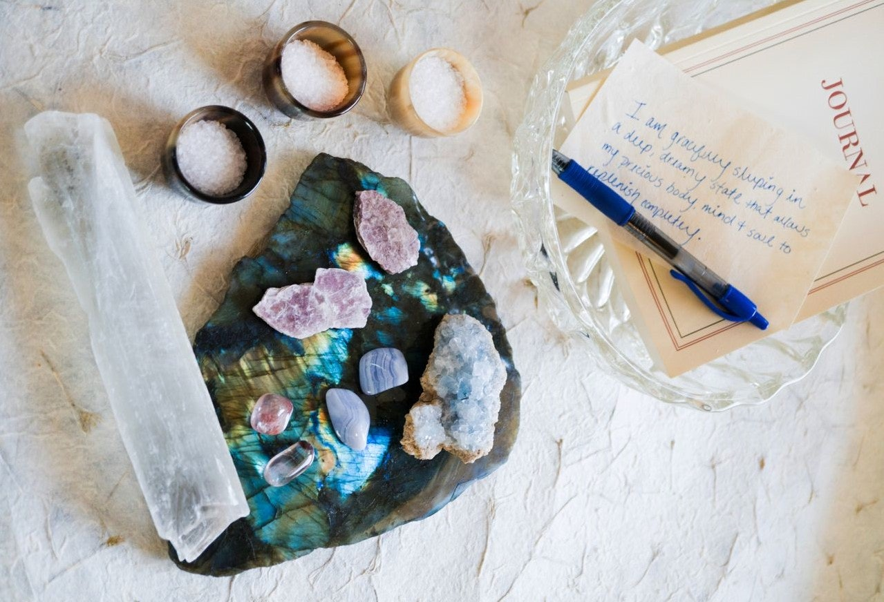 Using selenite and amethyst crystals in the bedroom can help you maximize on the relaxation.