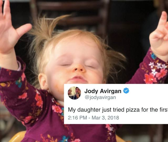 This Photo Of A Little Girl Trying Pizza For The First Time Just Became The Purest Meme On The Internet