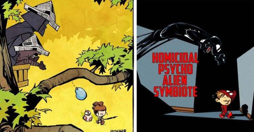 21 calvin and hobbes comics reimagined with different characters