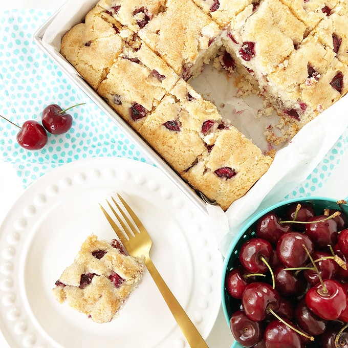 Cherry Buttermilk Breakfast Cake is the perfect summer breakfast idea for your family.