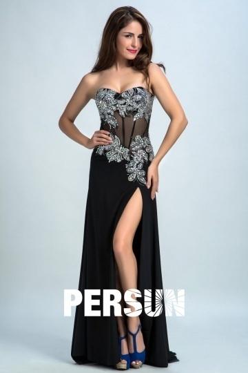 Sexy Sweetheart A-Linie Seite-Schlitz Abendkleider aus Chiffon Persun