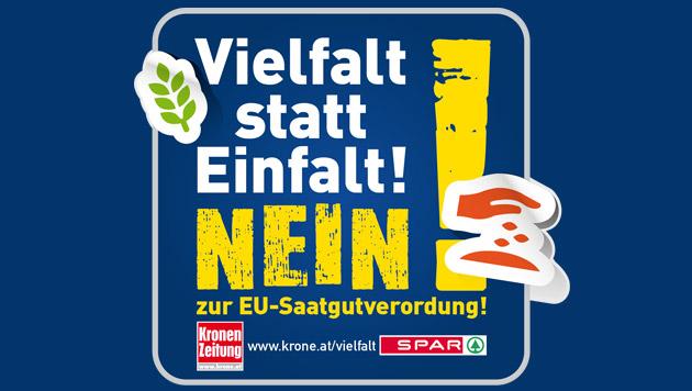 Unterschreiben gegen die EU-Saatgutverordnung! (Bild: Kronen Zeitung)