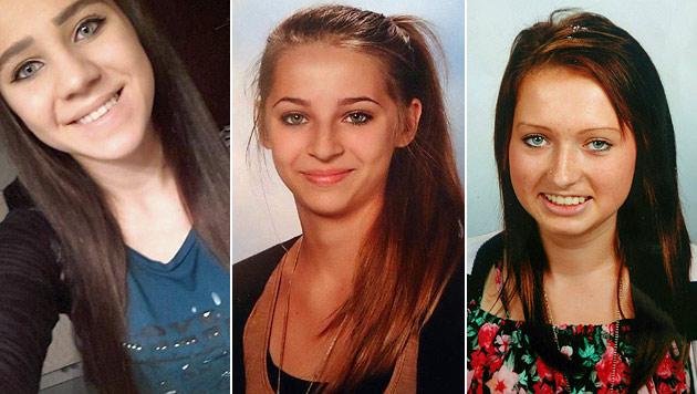 Diese Mädchen gelten als vermisst: Sabina (15), Samra (16) und Honorata (16) (Bild: Interpol, APA/POLIZEI)