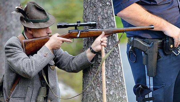Waffenpass-Sperre für Polizisten und Jäger (Bild: APA/ BARBARA GINDL)