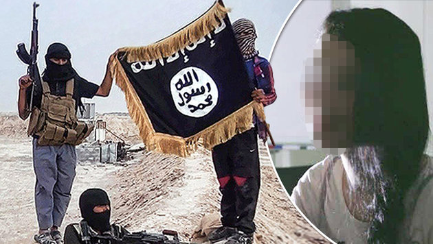 IS-Terrorhelferin arbeitet in Islam-Kindergarten (Bild: raqqa-sl.com, krone.tv)