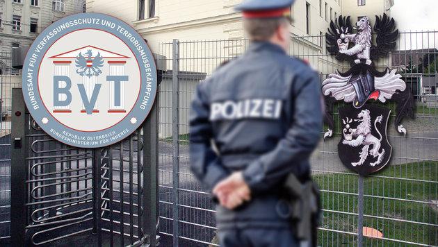 """Verfassungsschutz nimmt """"Reichsbürger"""" ins Visier (Bild: Andi Schiel, dpa, Klemens Groh, BVT)"""
