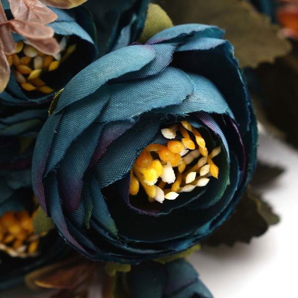 Artificial Peony Simulation Peony Artificial Flower Leaf Bouquet Home Decor