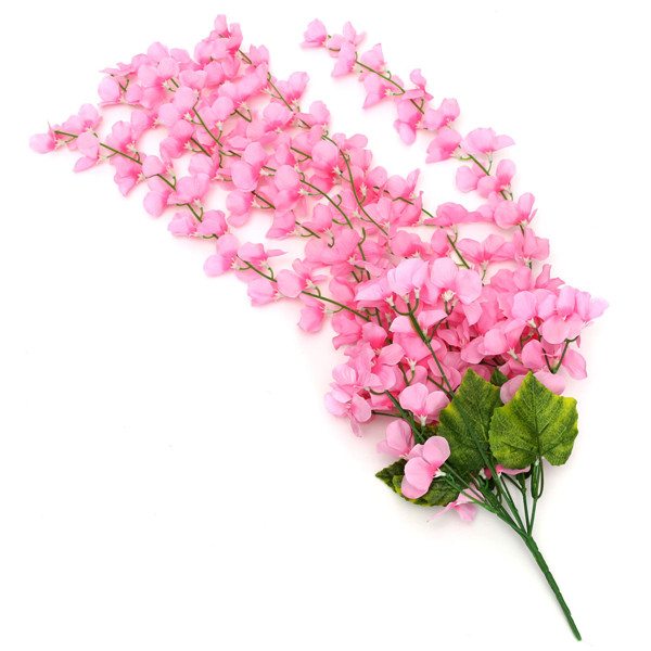 Artificial Flower Hanging Orchid Plants Leaves Bunch Plastic Party Home Garden