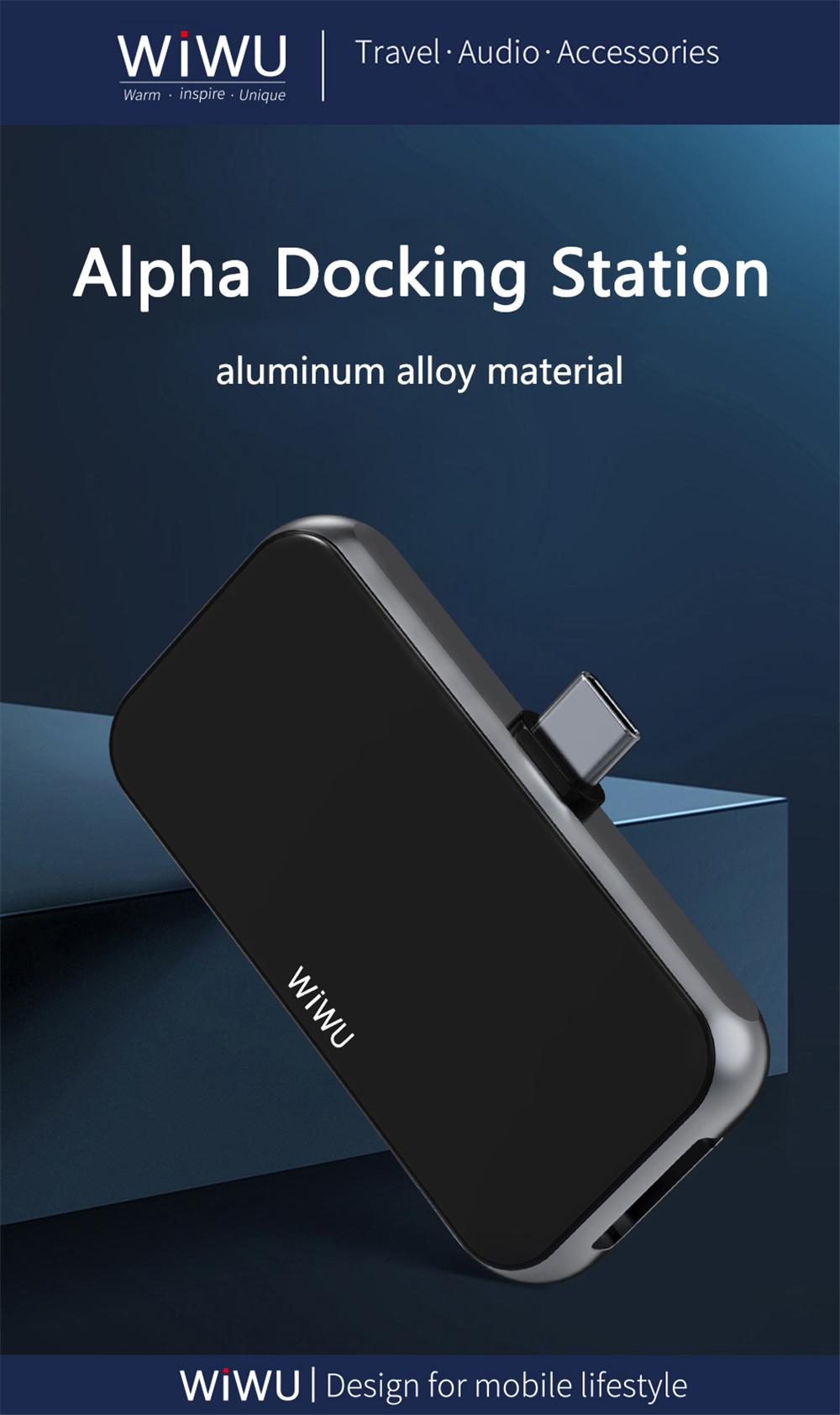 WiWU T5 Pro with 3.5mm Audio HDMI USB 3.0 Type C 4 in 1 Hub