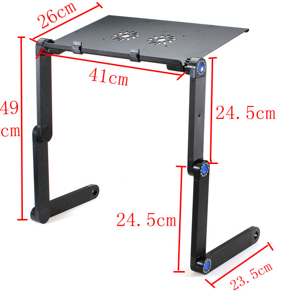360 Folding Laptop Desk Computer Table 2 Holes Cooling Notebook Table with Mouse Pad Laptop Stand 35
