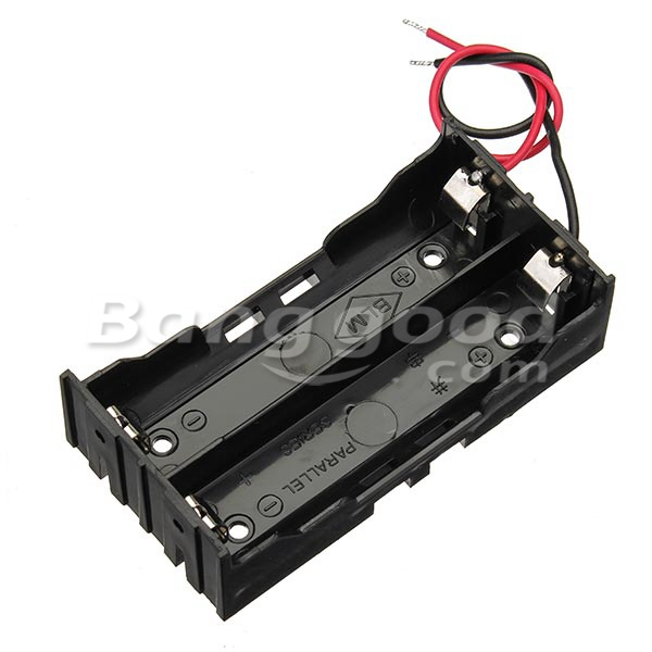 5pcs DIY DC 7.4V 2 Slot Double Series 18650 Battery Holder Battery Box With 2 Leads ROHS Certification 6