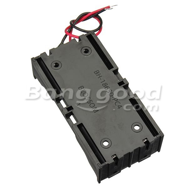 5pcs DIY DC 7.4V 2 Slot Double Series 18650 Battery Holder Battery Box With 2 Leads ROHS Certification 7