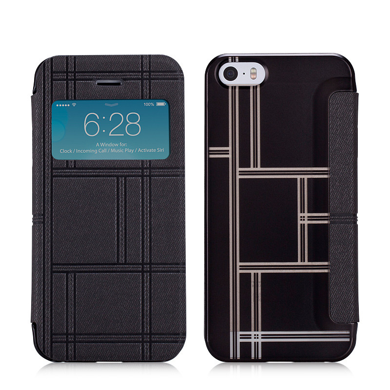 PU Leather Cover Protective Case For iPhone 5S