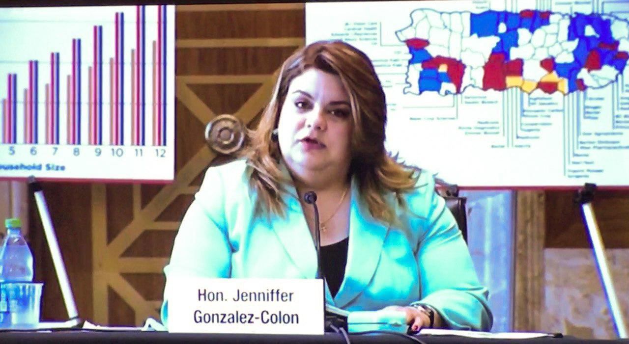 Jenniffer González aboga ante el Senado federal por recursos para combatir el COVID-19