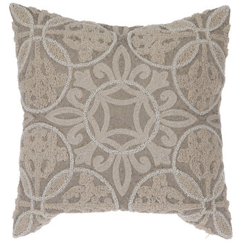 beige bead embroidered pillow cover hobby lobby 1997378