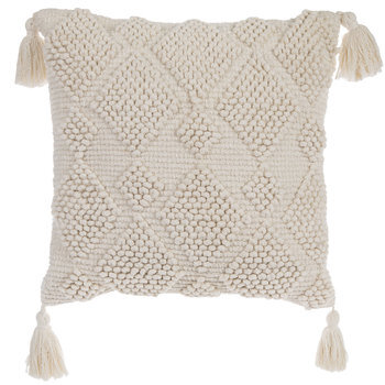 ivory pillow with tassels hobby lobby 1650027