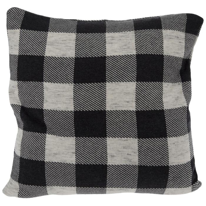 dark gray buffalo check knit pillow cover hobby lobby 1834480