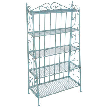 turquoise distressed five tiered metal baker s rack hobby lobby 1021096