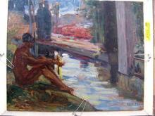 mathilde arbey painting nu au bord du bassin