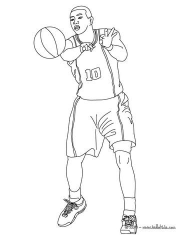 Desenhos Para Colorir De Desenho De Um Jogador Passando A