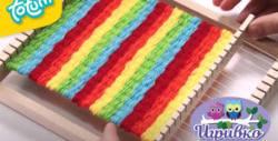 Дървен тъкачен стан Totum - за развиване на детската креативност