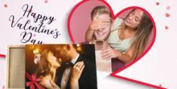 Подарък за Св. Валентин! Канава с ваша снимка или по избор от галерията - в различни размери