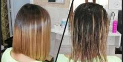 Подстригване, боядисване с боя на клиента, кератиново изправяне или терапия за суха и изтощена коса