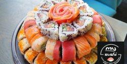 Екзотика и стил! Торта със суши и сашими