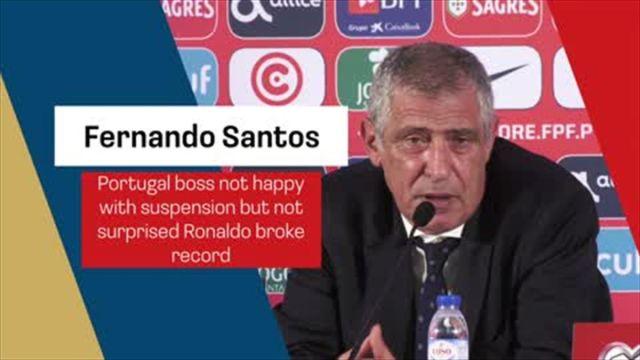 'it's human' - Santos understands Ronaldo getting suspension but still not happy