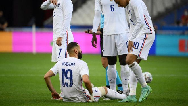 Karim Benzema durant France - Bulgarie