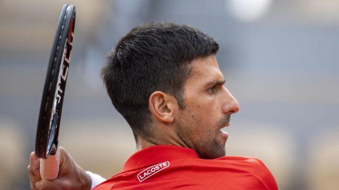 Novak Djokovic à Roland-Garros en 2021