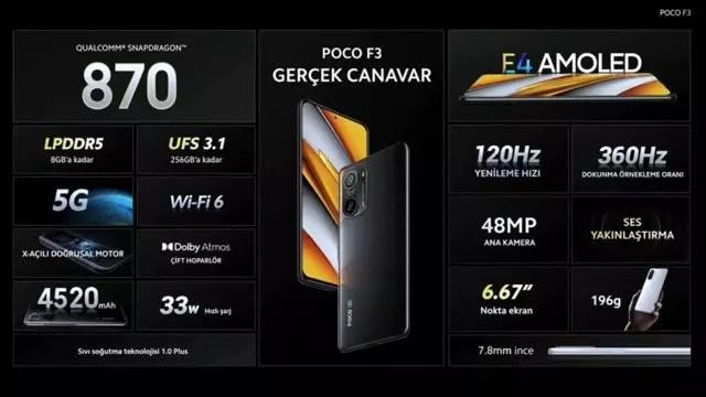 Poco F3 özellikleri