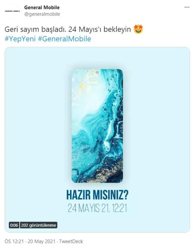 General Mobile Twitter paylaşımı