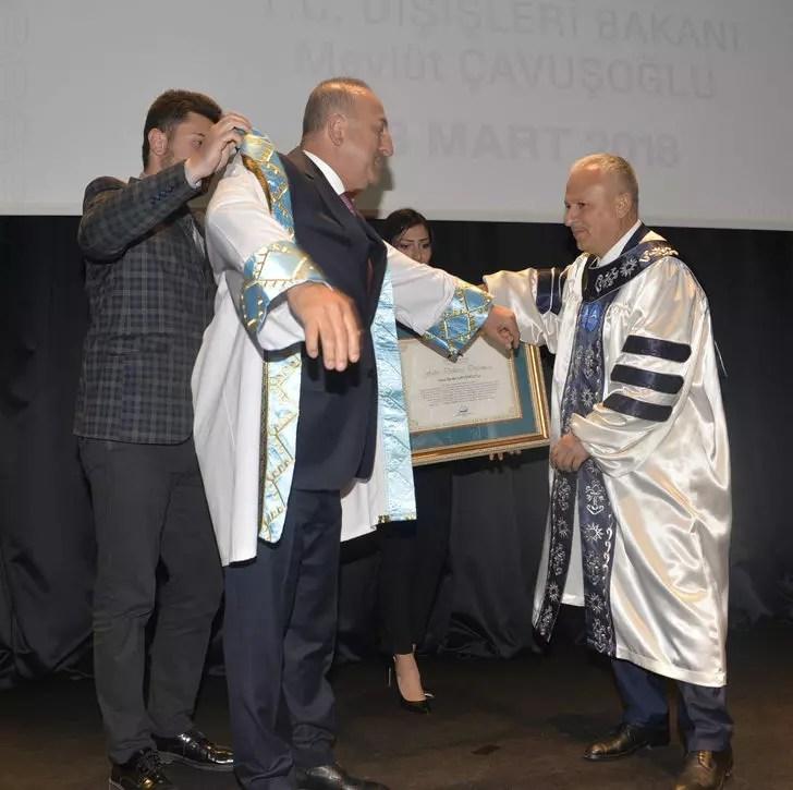 Dışişleri Bakanı Çavuşoğlu'na fahri doktora