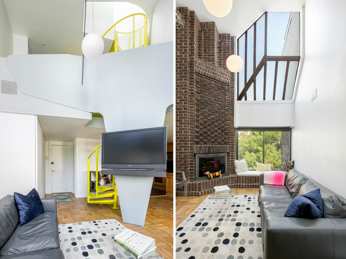 For 1 5m A Neon Yellow Spiral Staircase And Private Roof