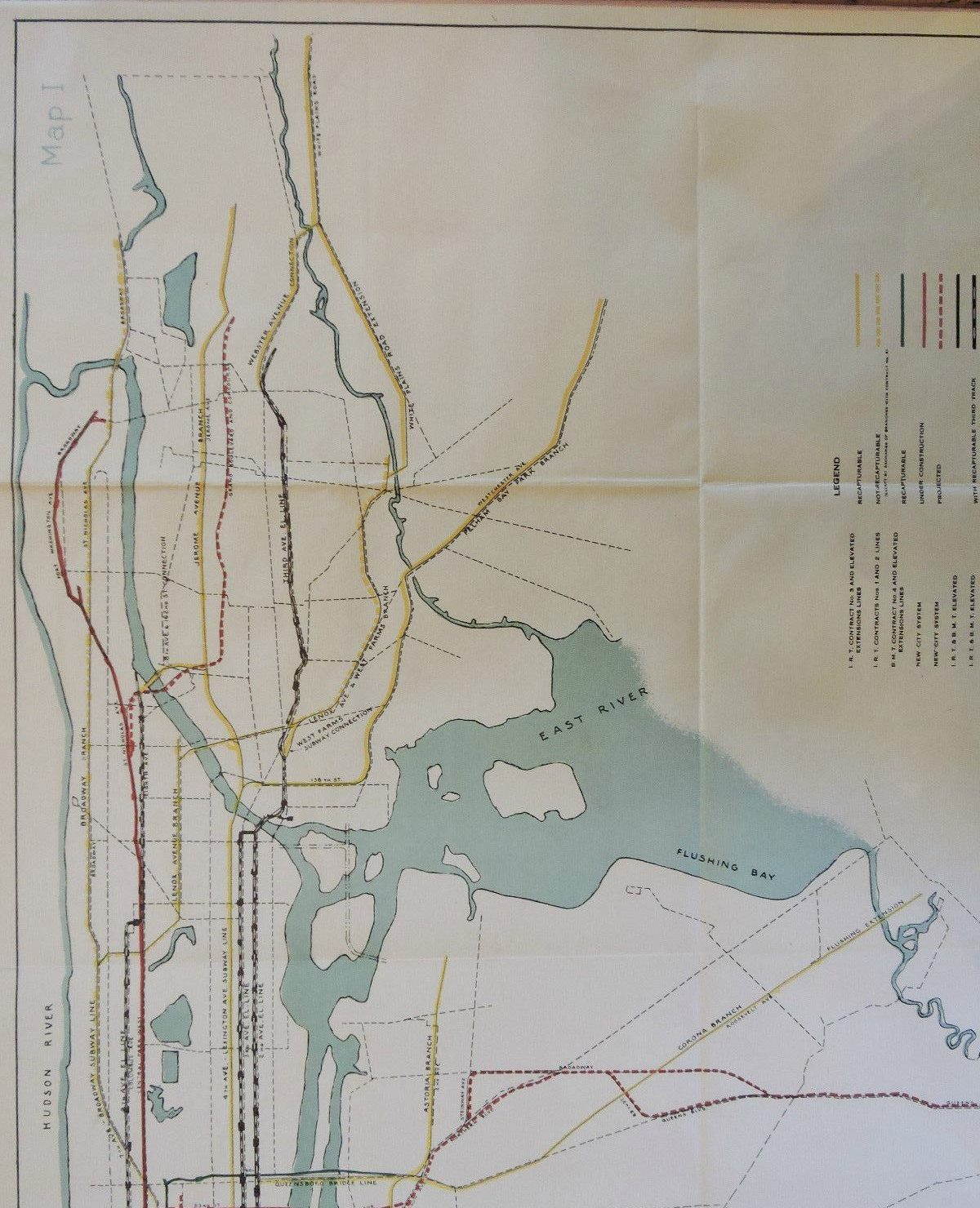 This 1927 city subway map shows early transit plans   6sqft 1927 subway map  Independent Subway System  ISS  IND  transit maps  nyc