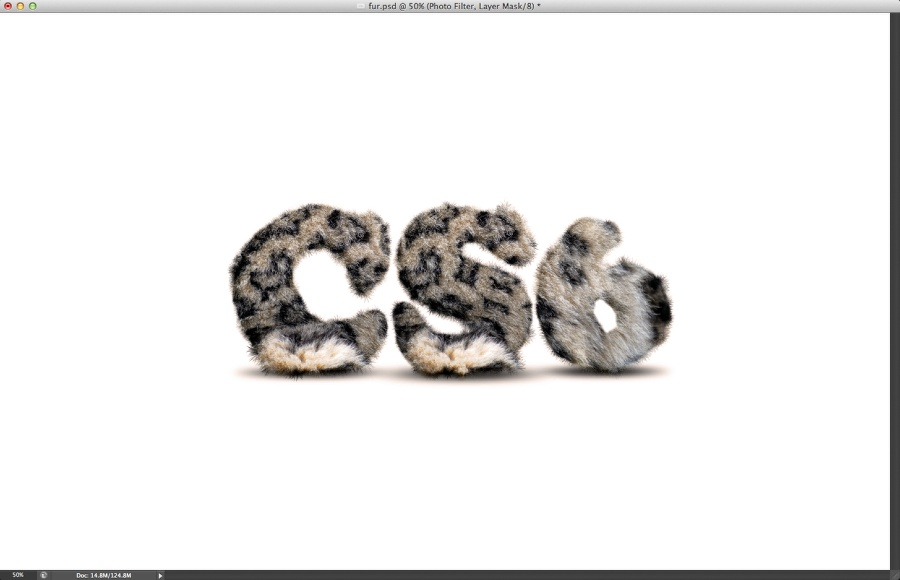 Easy Furry Text in Photoshop