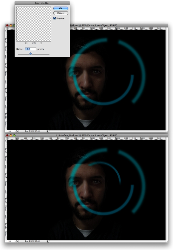 Iron Man Interface in Photoshop