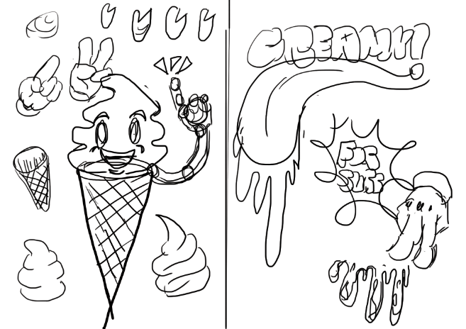 Create A Creamy Ice Cream Poster On Illustrator Lokichen88