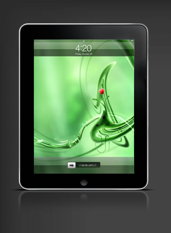 Abduzeedo's iPad wallpaper of the week by Richard Roberts