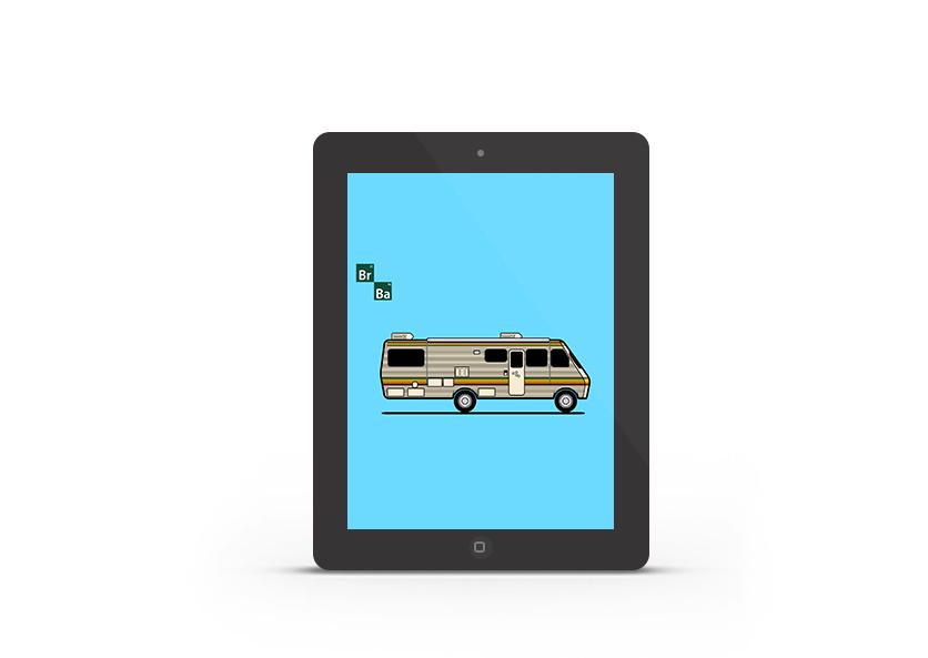 Abduzeedo's iPad wallpaper of the week - Breaking Bad
