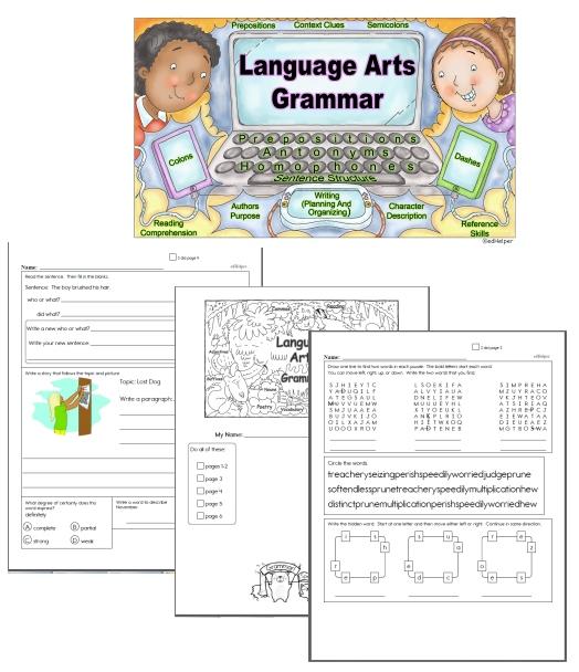 Free English Language Arts And Grammar Workbooks