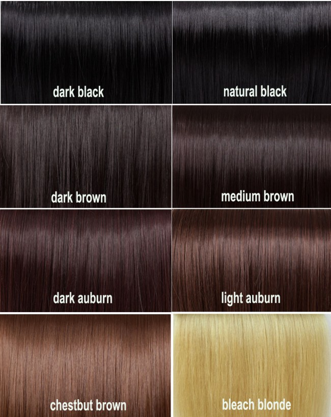 Black Hair Color Chart
