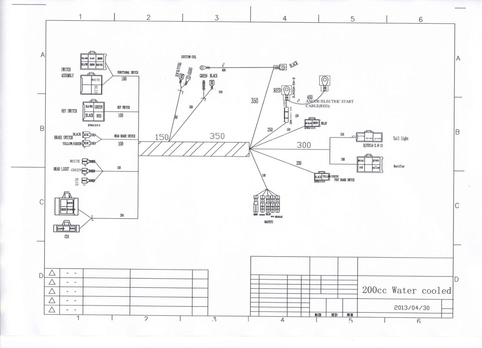 Tao 4 Wheeler Wiring Diagram