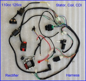 507090110CC125cc WIRE HARNESS WIRING CDI ASSEMBLY ATV