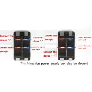 HS Waterproof MARINE BOAT CAR Rocker Switch 12V SPDT ON